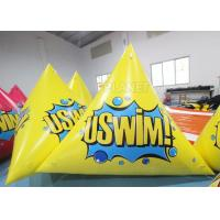 Buy cheap Triangle 2.5m Inflatable Marker Buoy Hot Air Welding UV Resistant from wholesalers