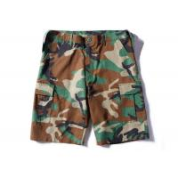 Buy cheap Woodland Ripstop Men's Camo Tactical Cargo Shorts Wearfirst With Three Big Belt Loops from wholesalers