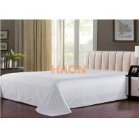 Buy cheap Plain / Jacquard Hotel Bed Sheets For Single / Double / Queen / King Size Bed from wholesalers