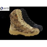 Buy cheap Microfiber Leather Military Tactical Shoes Footwear Zipper 8 Inches High product
