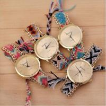 Buy cheap Classic Waterproof Geneva Flower Watch For Ladies ,  Rope Bracelet Watch from wholesalers