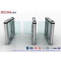 Quality Brushed Surface Speed Gate Fastlane Turnstile Half Height Turnstile With Fingerprint Reader for sale