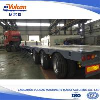 Buy cheap Good quality 3 axle air bag suspension flatbed semi trailer with ISO9001 certificate from wholesalers