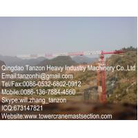 Buy cheap TCP7013-12 Topless Tower Crane With 70m Jib Length , Flat Top Tower Crane from wholesalers