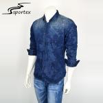Buy cheap Fashion Slim Denim Jeans Shirt For Man , Printed Denim Shirts Full Sleeve Length from wholesalers