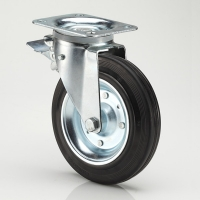 Buy cheap 200mm Garbage Container Rubber Caster Wheels from wholesalers