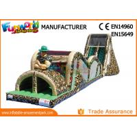 Buy cheap Indoor Or Outdoor Mega Inflatable Assault Course With Digital Painting from wholesalers
