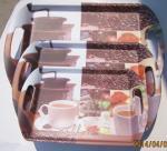 Buy cheap melamine tablewares -tray with ear ,fruit tray,snack tray,beer tray,rice tray from wholesalers
