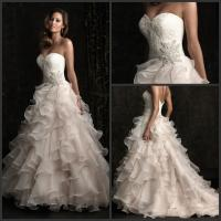 Buy cheap 2013 Designer Custom Made Sweetheart A-line Organza Wedding Dresses Bridal Gowns from wholesalers