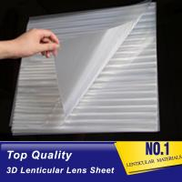 Buy cheap PLASTIC LENTICULAR different lpi Lenticular sheet china 50lpi pet clear plastic lens 3d sheets for sale from wholesalers