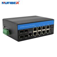Buy cheap Managed Industrial POE Switch with 8*10/100/1000M POE+4*1000M SFP port DIN-Rail,Support RSTP, Ring Topolog from wholesalers