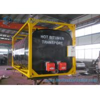 Buy cheap ISO Frame Liquid Bitumen Storage Tanks 20 Foot Shipping Container from wholesalers