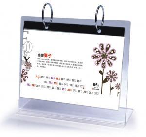 Buy cheap Office Clear Acrylic Calendar Holder on Table Top Custom 148mm x 210mm product