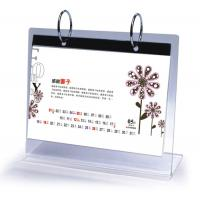 Buy cheap Office Clear Acrylic Calendar Holder on Table Top Custom 148mm x 210mm from wholesalers