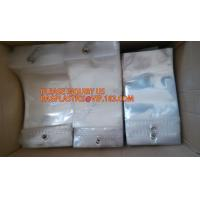 Buy cheap k resealable plastic packaging bags for clothes, PE / PE / PP plastic zipper plastic bags for clothes, hanger hook from wholesalers