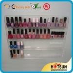 Buy cheap Clear Acrylic Nail Polish Wall Display Rack, custiomized tier nail polish rack from wholesalers