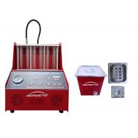 Buy cheap Petrol Fuel Injector Cleaning Machine Red Color 60*60*42cm 230W FCC Approved from wholesalers