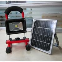 Buy cheap 10W portable recharged LED Flood Light with solar panel from wholesalers