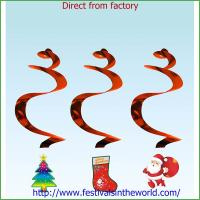 Buy cheap christmas  Decoration Hanging Swirls Foil from Wholesalers