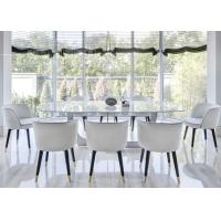 Buy cheap White Hotel Furniture Dining Room Chairs With Wood / Stainless Steel Leg from wholesalers