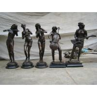 Buy cheap Playing Music Bronze Sculpture For Garden Decoration from wholesalers