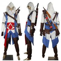 Buy cheap Game Costumes Wholesale Men's Assassins Creed 3 Connor Kenway Cosplay Costume Hoodie Halloween Comic-con Anime Costumes from wholesalers