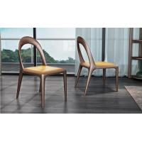 Buy cheap 2017 New Design Dining room Furniture Walnut solid wood Chair with Leather Upholstered Cushion for Restaurant used product
