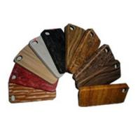 Buy cheap Hot!!! High quality wood pattern leather cover for iphone 4 protective cover from wholesalers