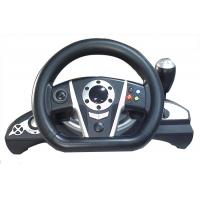 2.4G RF Wireless Racing Video Game Steering Wheel With Receiver / F1 Gear Shift