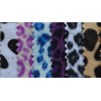 Buy cheap Tricot Velboa print flocking fabric zebra print plush flock fabric wholesale best quality from wholesalers