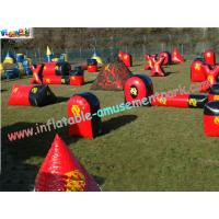 Buy cheap 0.6MM PVC tarpaulin Bunkers field with different design for paintball sports from wholesalers