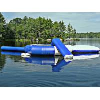 Buy cheap Blue Outdoor Inflatable Water Trampoline, Customized Inflatable Water Toys For Lake from wholesalers
