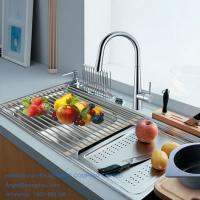 Buy cheap Kitchen sink 201 stainless steel roll up drainer dish rack from wholesalers