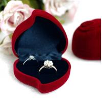 Buy cheap red heart ring box, flocking  jewelry box from wholesalers