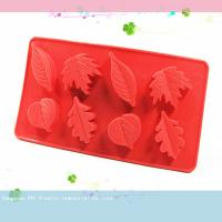Buy cheap Custom made leafs Silicone Cake Moulds for making cake chocolate bareware product