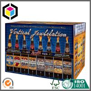 Matte CMYK Full Color Printed Beer Packaging Box; 24 Bottle Wine Corrugated Box