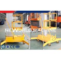 Buy cheap 14M 100Kg 1.5Kw Single Aluminum Mast Lift Man Aerial Working Platform / Aerial Lift Safety from wholesalers