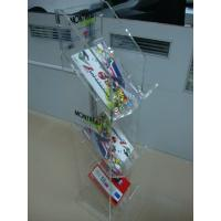 Buy cheap 3 Mm Acrylic Pop Display ,3-Tier Clear Vacrylic Magazine Floor Stand product