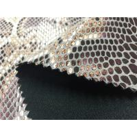 Buy cheap Snake Skin Pattern Imitation Leather Fabric Lamination On Garment from wholesalers