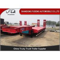 Buy cheap 4 Axles 80 Tons Low Bed Semi Trailer With Mechnical Ladder For Sale from wholesalers
