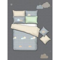 Buy cheap American Style 4 Piece Bedding Set / All White Bedroom Set Single Size from wholesalers