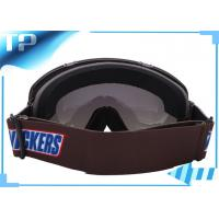 Buy cheap Brown Racing Clear Lens Customized Womens Ski Goggles Anti - Scratch from wholesalers