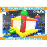 Buy cheap Mini Air Bouncer Inflatable Bouncy Castle With Slide , 0.55mm PVC Material from wholesalers