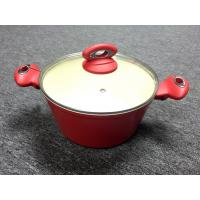 Buy cheap Forged aluminum inner ceramic coating / casserole with lid /outer heat resistant painting from wholesalers