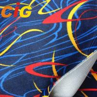 Buy cheap Seat Cover Auto Upholstery Fabric 100% Polyester 150cm Width With Screen Printing product