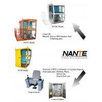 Buy cheap White / Red Overhead Crane Cabin With Adjustable Seat / Joystick product