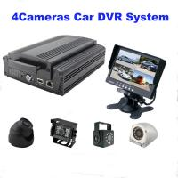 Buy cheap 4Ch GPS WIFI Full AHD HD DVR car camera with 2TB HDD / SD Card , H.264 Compression product
