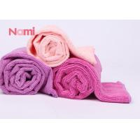 Buy cheap Pink Quick Dry Hair Drying Towel Wrap Eco - Friendly With Embroidered Logo from wholesalers