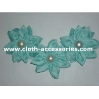 Buy cheap 120D Green Formal Chiffon Fabric Flower Corsage With Three Flower from wholesalers