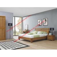 Buy cheap Super Quality wooden Apartment design import ruber solid wood latest bedroom furniture suite by bed and sliding wardrobe product